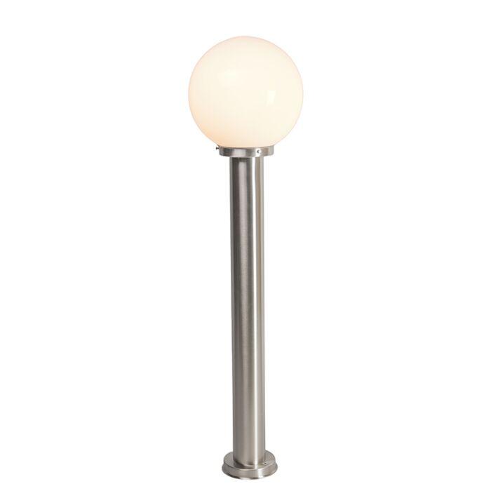 Modern-utomhuslampa-stålstål-rostfritt-stål-100-cm---Sfera