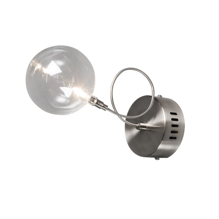 Vägglampa-'Soap-1'-Moderna-transparent/glas---Passande-för-LED-/-Inomhus