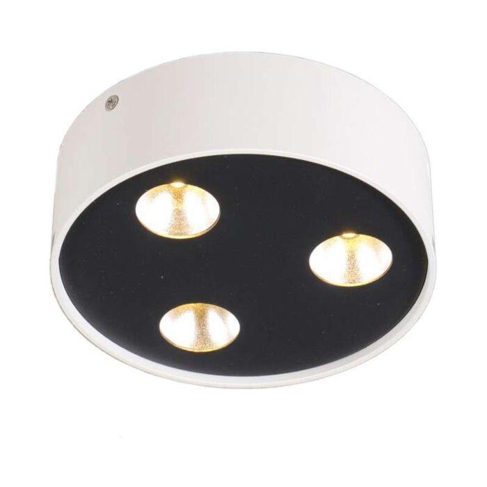 Plafond-'Dia'-Design-vit/metall---LED-inkluderat-/-Inomhus