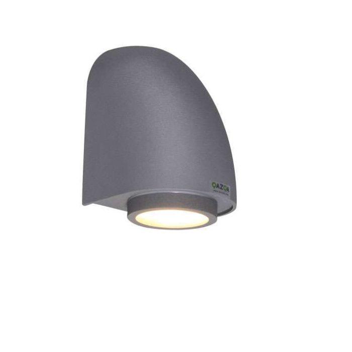 Vägglampa-'Micron'-Moderna-grafit/aluminium---Passande-för-LED-/-Utomhuslampa,-Inomhus,-Badrum