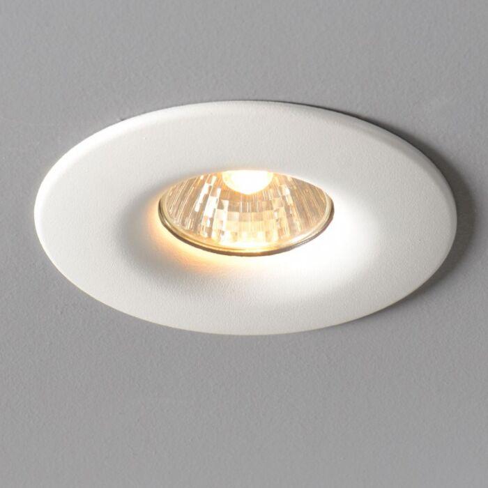 Spotlight/downlight-'Moon'-Moderna-vit/aluminium---Passande-för-LED-/-Inomhus