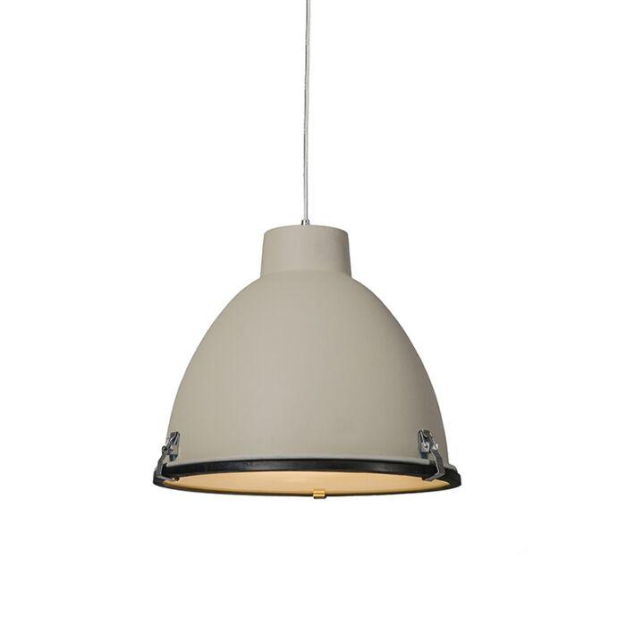 Taklampa-'Anteros-38'-Industriell-brun/aluminium---Passande-för-LED-/-Inomhus