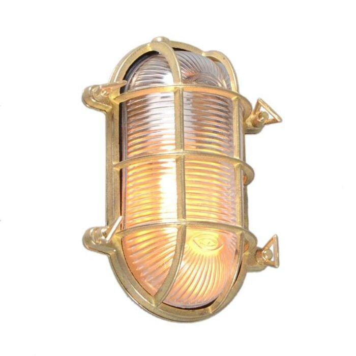 Vägg-/Taklampa-Oval-Guld---Nautica