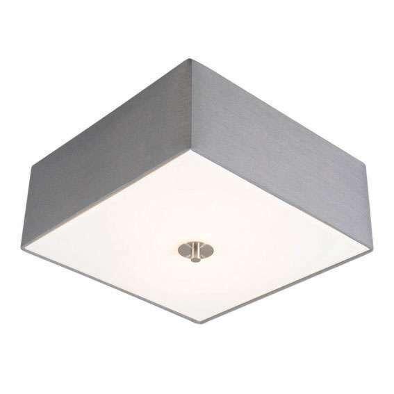 Lantlig-fyrkantig-taklampa-35-cm-grå---Trumma