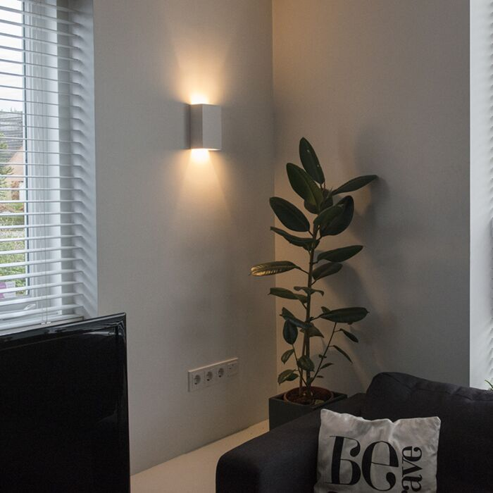 Vägglampa-'Gipsy-Meaux-S'-Moderna-vit/gips---LED-inkluderat-/-Inomhus