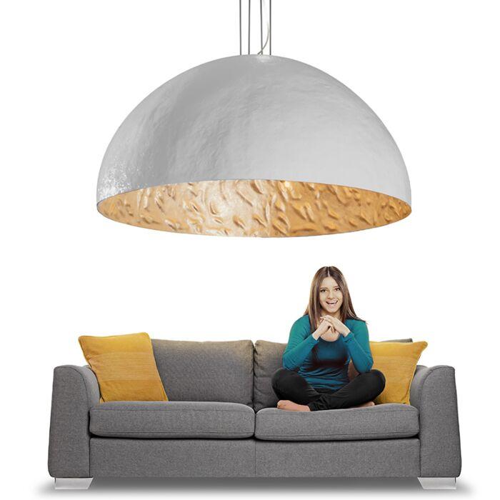 Stor-taklampa-'Magna-160'-Moderna-vit/polyester---Passande-för-LED-/-Inomhus