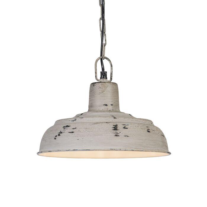 Taklampa-'Barun'-Lantlig-grå/metall---Passande-för-LED-/-Inomhus