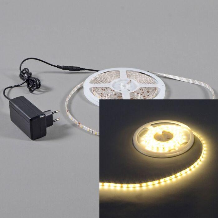 LED-strip-'IP65-3m'-Moderna-vit/polyester---LED-inkluderat-/-Utomhuslampa,-Badrum