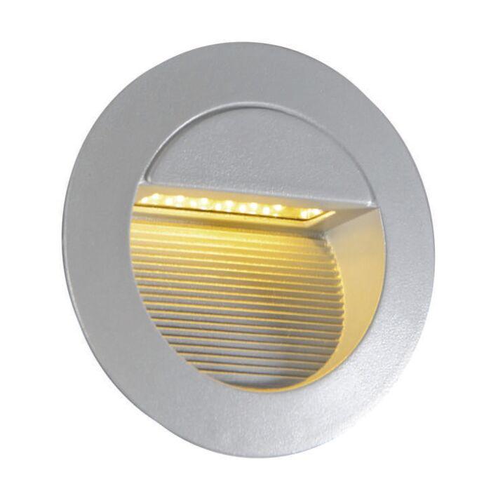 Inbyggd-vägglampa-'LEDlite-R'-Moderna-aluminium---LED-inkluderat-/-Utomhuslampa,-Inomhus,-Badrum