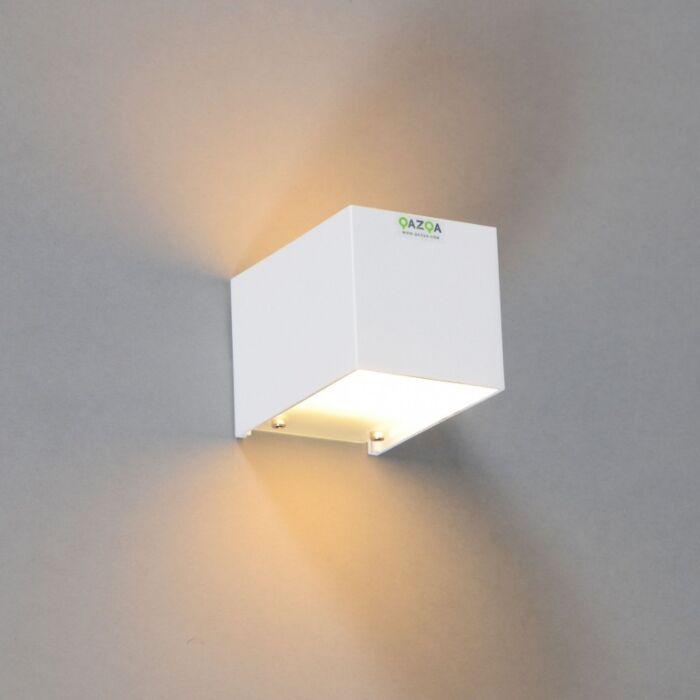 Vägglampa-'Tabb-1'-Moderna-vit/aluminium---Passande-för-LED-/-Inomhus