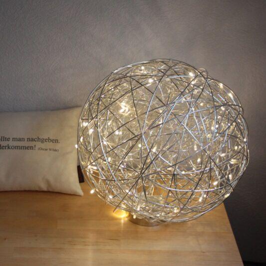 Golvlampa-klot-'Draht-40'-Design-aluminium---LED-inkluderat-/-Utomhuslampa,-Inomhus