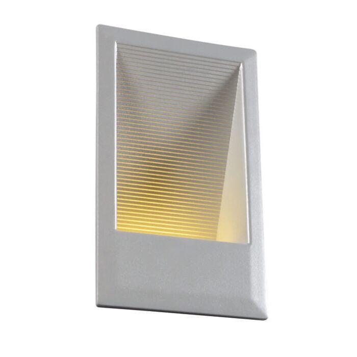 Inbyggd-vägglampa-'LEDlite-S'-Moderna-aluminium---LED-inkluderat-/-Utomhuslampa,-Inomhus,-Badrum