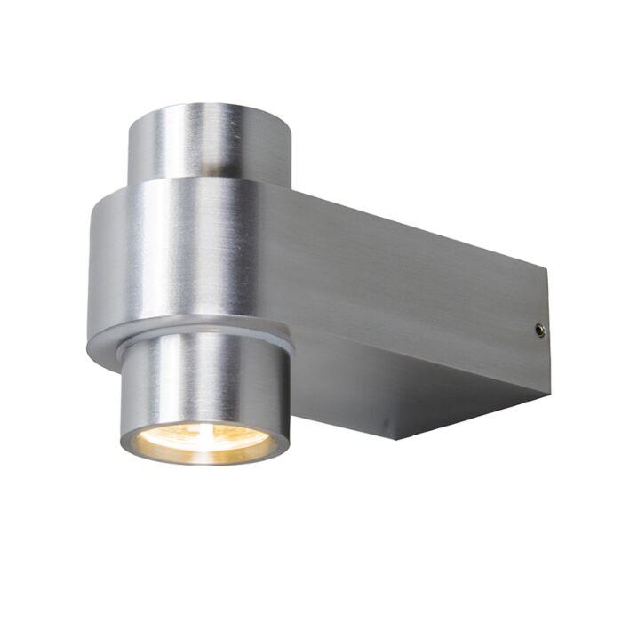 Vägglampa-'Win-2'-Moderna-aluminium---LED-inkluderat-/-Utomhuslampa,-Inomhus,-Badrum
