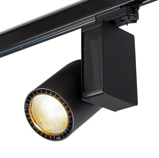 3-fas-samlingsskena-strålkastare-'Ruler-I'-Moderna-svart/metall---LED-inkluderat-/-Inomhus