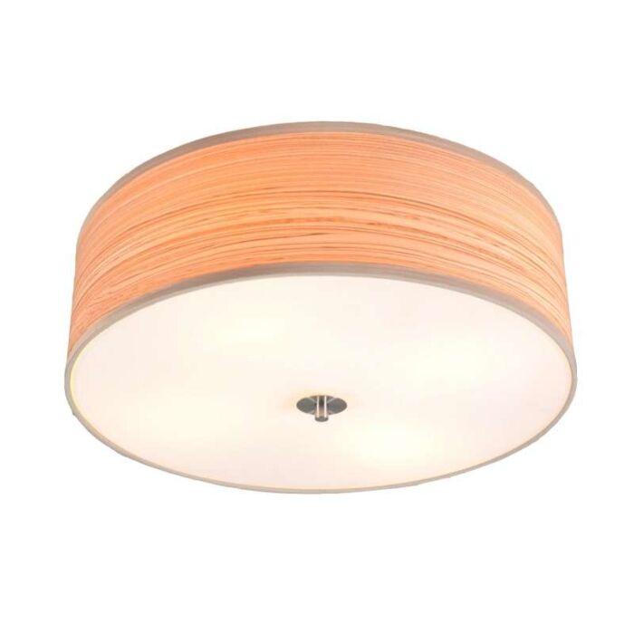 Stor-plafond-'Drum-50'-Moderna-brun/polyester---Passande-för-LED-/-Inomhus