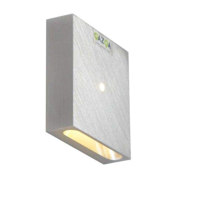 Inbyggd-vägglampa-'Quartz-Q-I'-Design-aluminium---LED-inkluderat-/-Inomhus