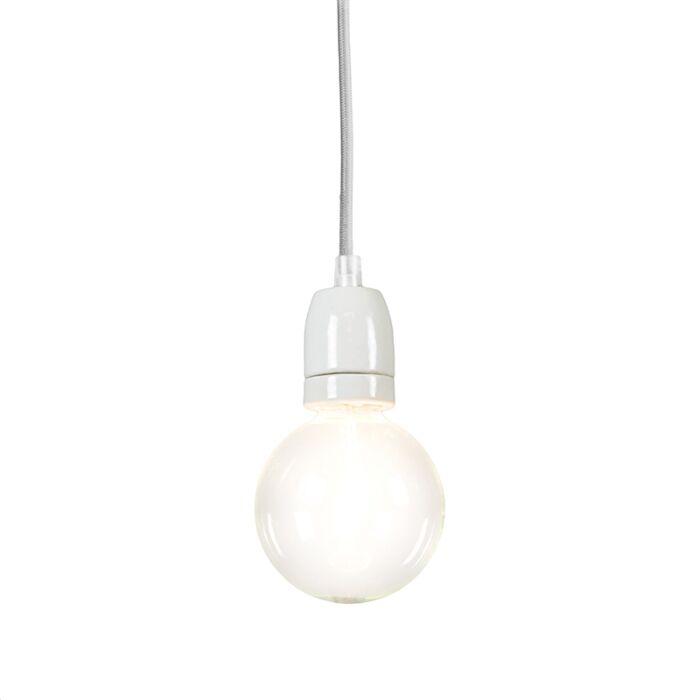 Minimalistisk-taklampa-'Cavo'-Moderna-grå/tyg---Passande-för-LED-/-Inomhus
