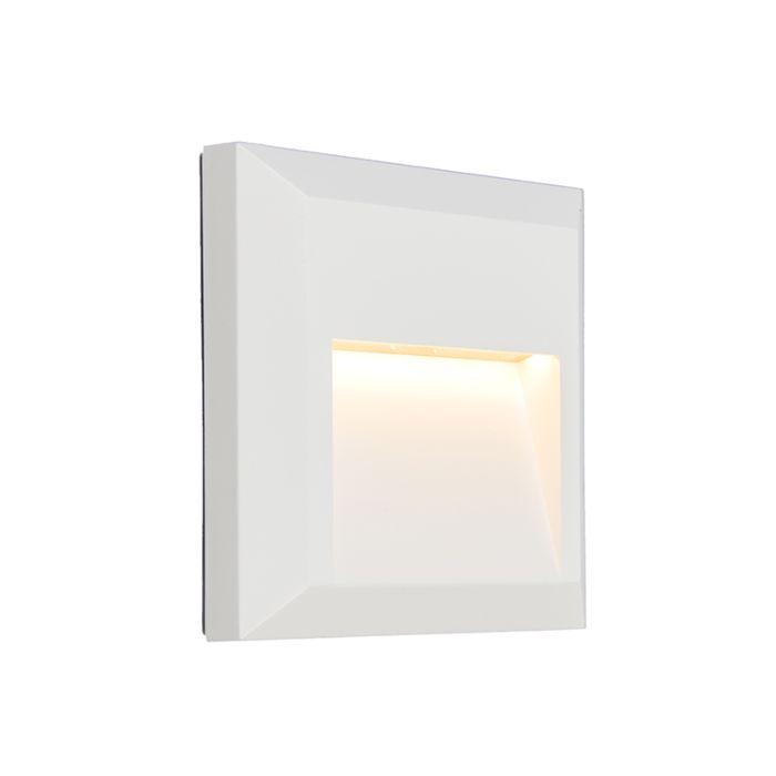 Vägglampa-'Gem-2'-Moderna-vit/polyester---LED-inkluderat-/-Utomhuslampa,-Inomhus,-Badrum