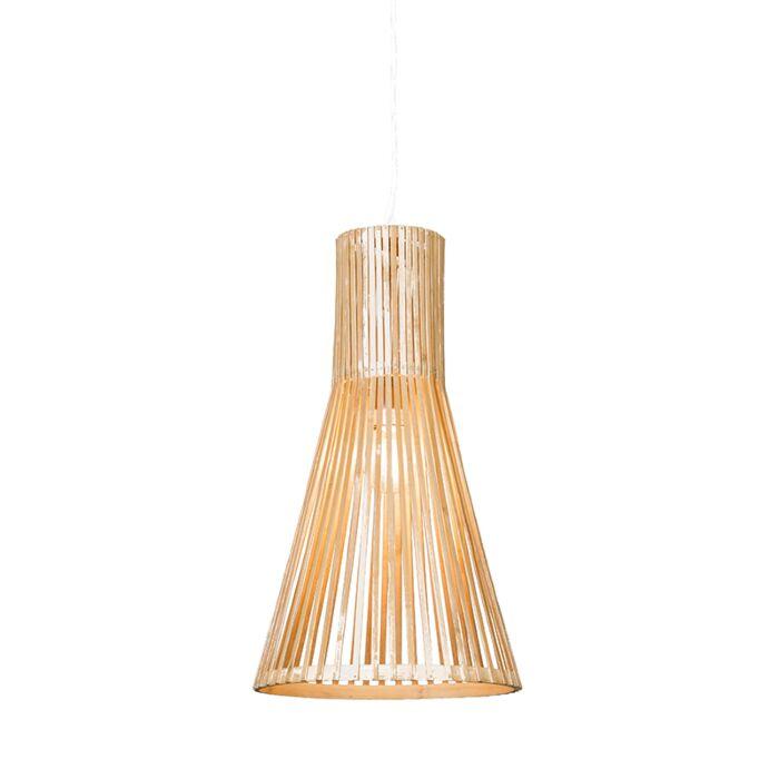 Taklampa-'Bamboo-1'-Moderna-beige/rotting---Passande-för-LED-/-Inomhus