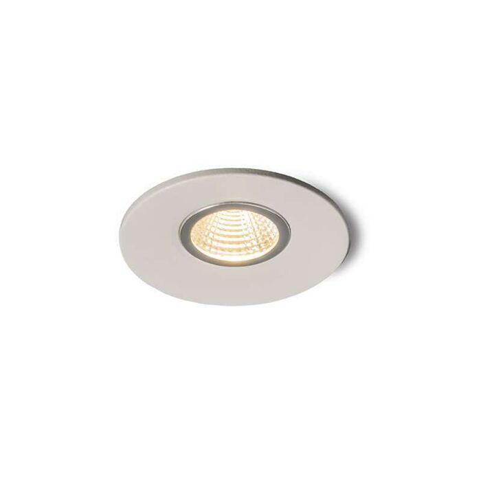 Spotlight/downlight-'Moon-Mini'-Moderna-vit/aluminium---LED-inkluderat-/-Inomhus