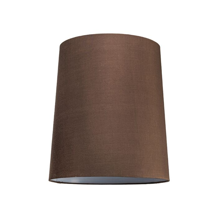 Lampskärm-'35cm-R-SU-E27'-Nej-brun/tyg-Passande-för-LED