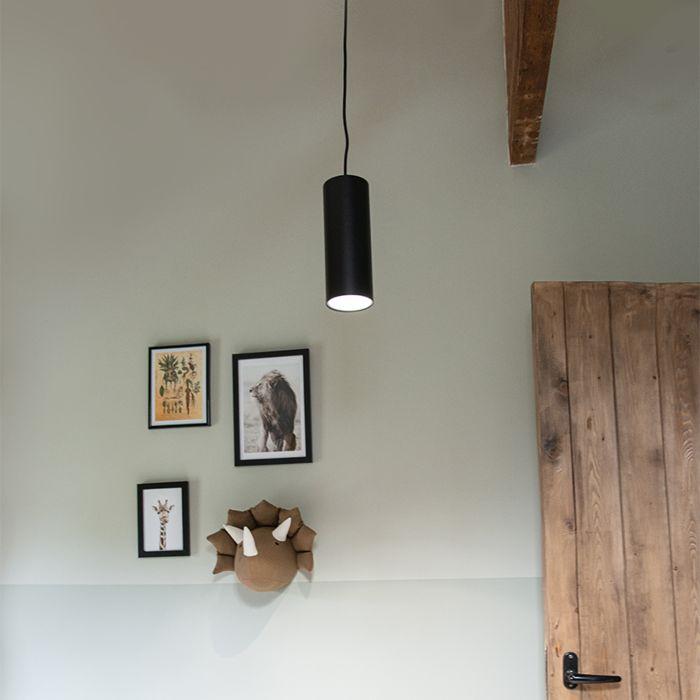 Design-hänglampa-svart---Tubo