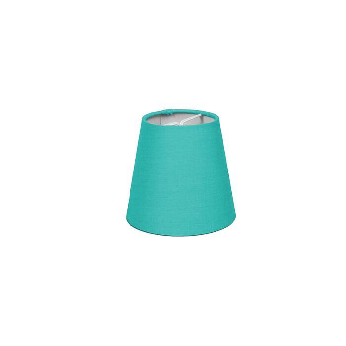 Skärm-med-glödlampsfäste-'10cm-R-SC'-Nej-turkos/tyg-LED-inkluderat