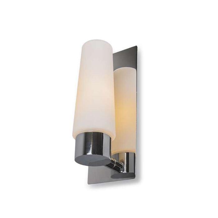 Vägglampa-'Allure-I'-Moderna-krom/rostfritt-stål---Passande-för-LED-/-Inomhus,-Badrum