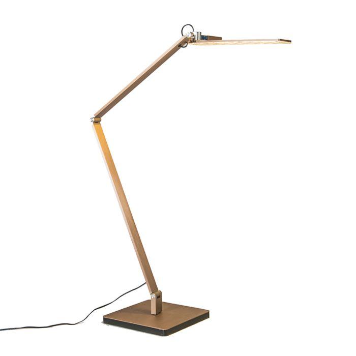 Bordslampa-med-dimmer-'Libro'-Moderna-guld/aluminium---LED-inkluderat-/-Inomhus