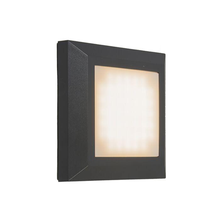 Vägglampa-'Gem-1'-Moderna-grafit/polyester---LED-inkluderat-/-Utomhuslampa,-Inomhus,-Badrum