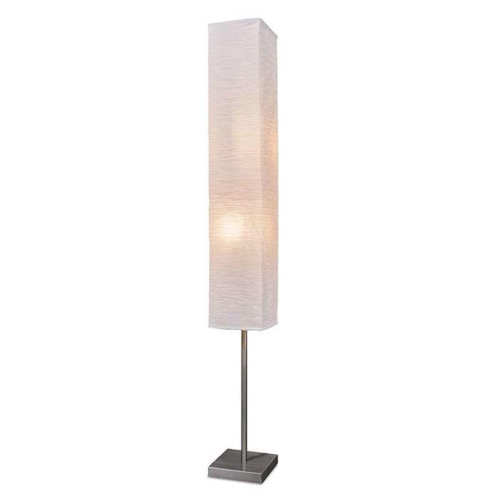 Golvlampa-'Panatella'-Moderna-benvit/papper---Passande-för-LED-/-Inomhus