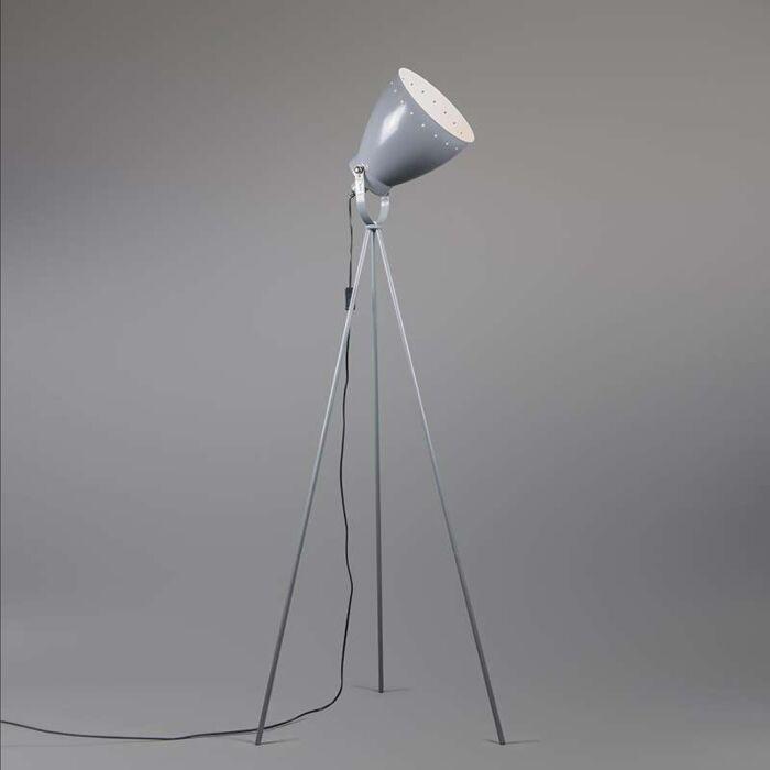 Tripod/staviv-golvlampa-'Rytel'-Retro-grå/metall---Passande-för-LED-/-Inomhus