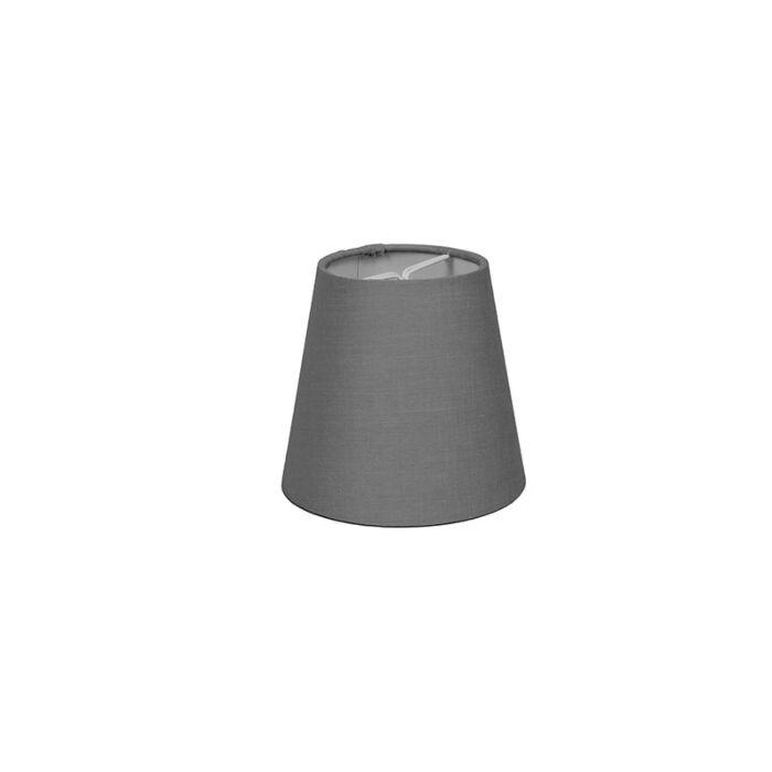 Skärm-med-glödlampsfäste-'10cm-R-SC'-Nej-grå/tyg