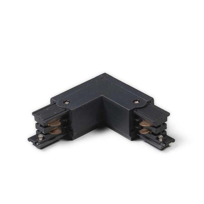 3-fas-samlingsskena-kontakt-'LL'-Moderna-svart/polyester-Inomhus