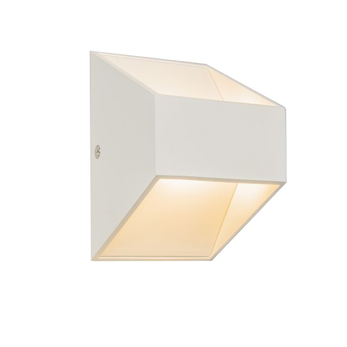 Vägglampa-'Liuz-2'-Moderna-vit/aluminium---LED-inkluderat-/-Inomhus