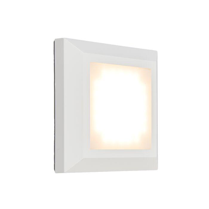 Vägglampa-'Gem-1'-Moderna-vit/polyester---LED-inkluderat-/-Utomhuslampa,-Inomhus,-Badrum
