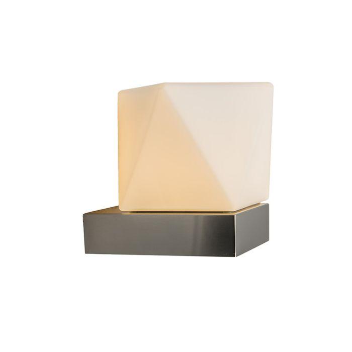 Vägglampa-'Tumba'-Moderna-rostfritt-stål---Passande-för-LED-/-Utomhus