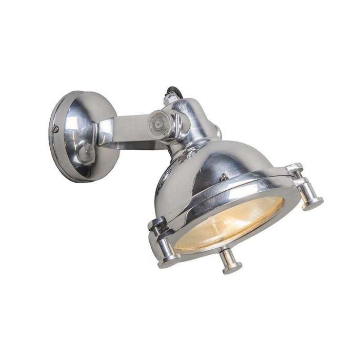 Vägglampa-'Raw-I'-Industriell-krom/aluminium-Passande-för-LED