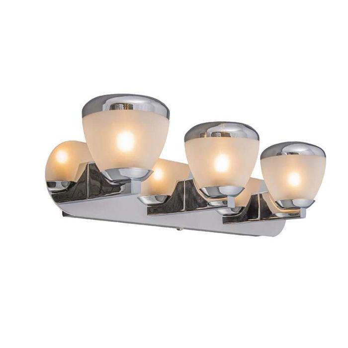 Vägglampa-'Jaws-III'-Moderna-krom/rostfritt-stål---Passande-för-LED-/-Inomhus,-Badrum