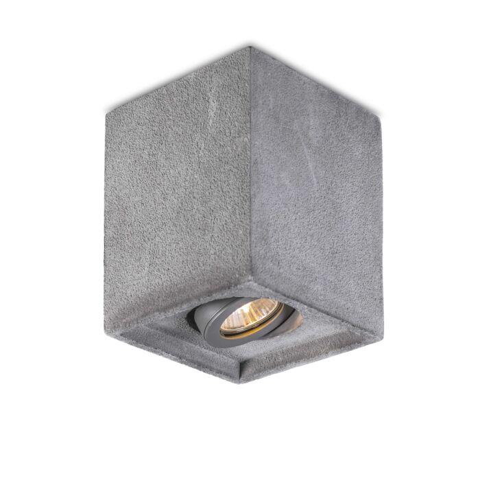 Plafond-strålkastare-'Box-Concrete'-Moderna-grå/sten/betong-Passande-för-LED
