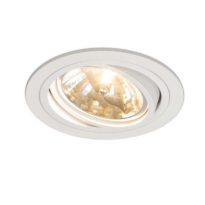 Stor-spotlight/downlight-'Impact-R'-Moderna-vit/aluminium---Passande-för-LED-/-Inomhus