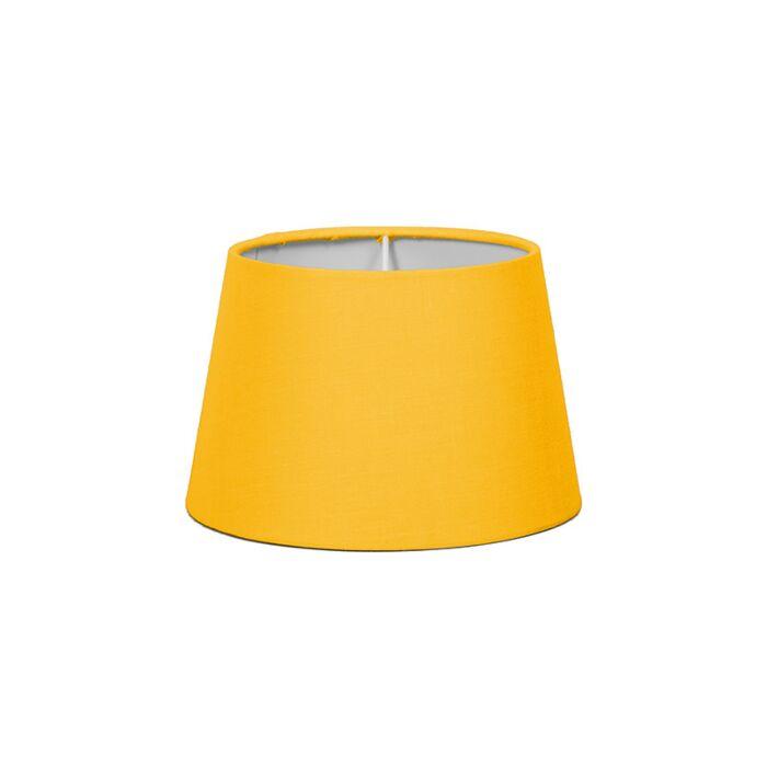 Lampskärm-'18cm-R-SD-E27'-Nej-gul/tyg-Passande-för-LED
