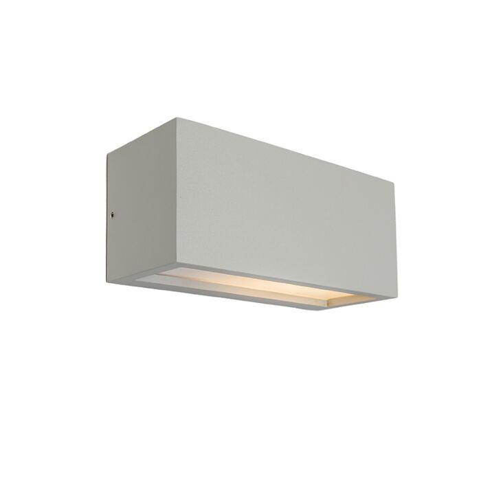 Vägglampa-'Angle-1'-Moderna-grå/aluminium---Passande-för-LED-/-Utomhuslampa