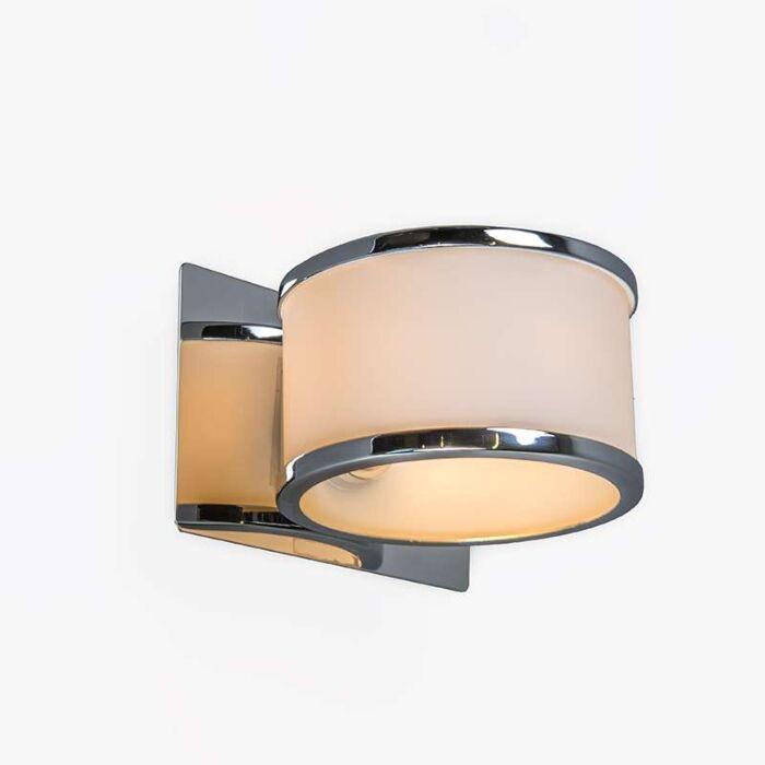 Vägglampa-'Havanna-1'-Moderna-krom/rostfritt-stål-Inomhus,-Badrum