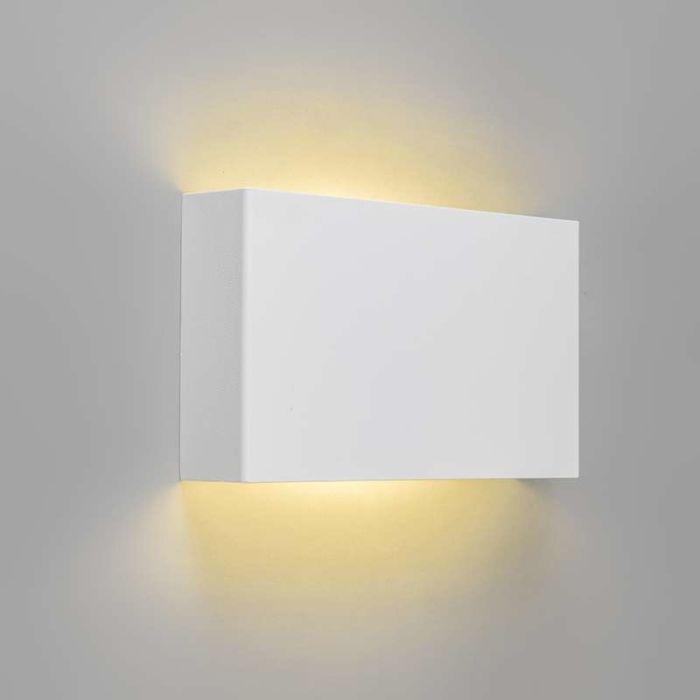 Vägglampa-'Otan'-Moderna-vit/metall---LED-inkluderat-/-Inomhus