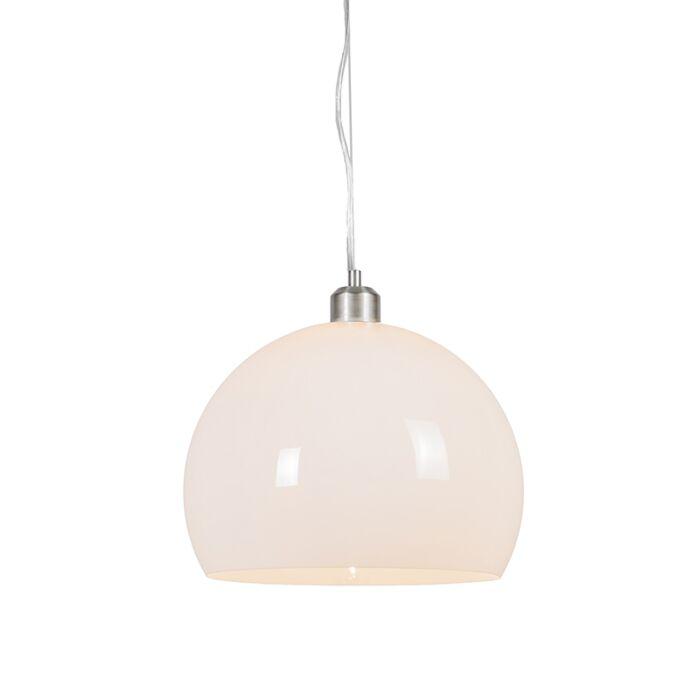 Modern-rund-hängande-lampa-opal-vit---Globe