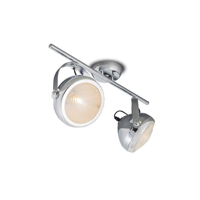 Plafond-strålkastare-'Biker-2'-Retro-krom---Passande-för-LED-/-Inomhus