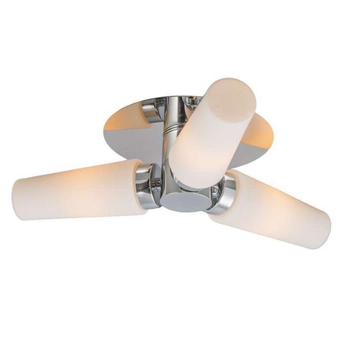 Plafond-'Allure-III'-Moderna-krom/rostfritt-stål---Passande-för-LED-/-Inomhus,-Badrum