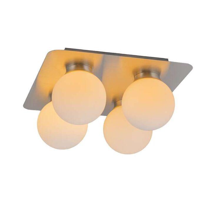 Plafond-'Kate-IV'-Moderna-rostfritt-stål---Passande-för-LED-/-Inomhus,-Badrum