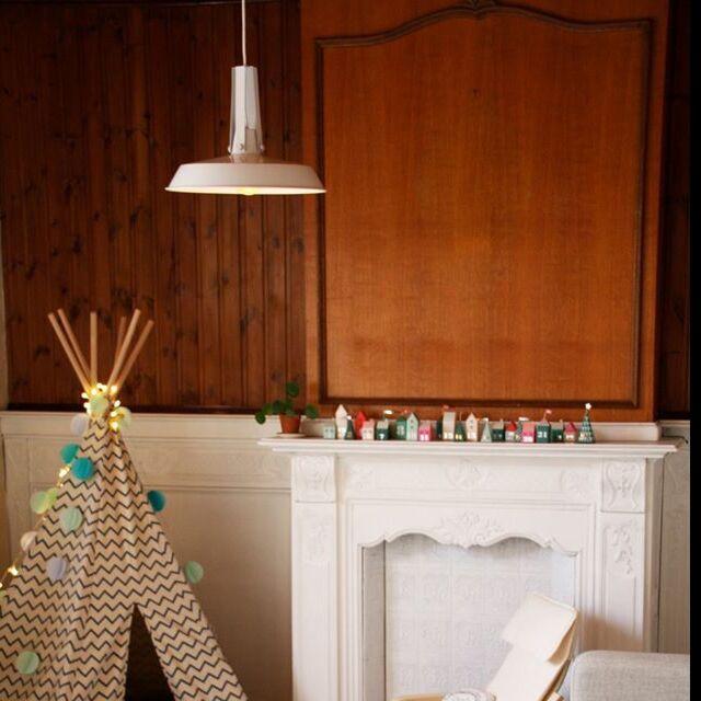 Taklampa-'Living-40'-Retro-flerfärgad/metall---Passande-för-LED-/-Inomhus